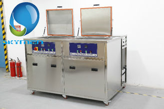 China 28/40KHz Industrial Ultrasonic Parts Cleaner 360L Dual Tanks For Turbine Fuel Nozzle supplier