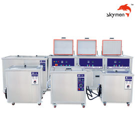 China Durable Ultrasonic Carburetor Cleaner , Ultrasonic Cleaning Machine 500L Double Tanks supplier