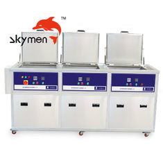 China 28Khz 40Khz Industrial Ultrasonic Cleaner 3 Tanks 360L Cleaning Rinsing Drying Function supplier