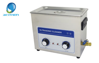 China 6.5L Mechanical Ultrasonic Cleaner Tank With Drainage , Timer And Heater supplier