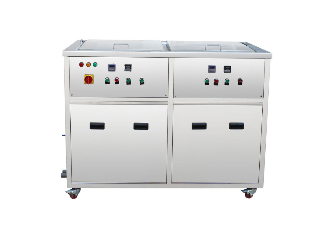 135 Liters Ultrasonic Cleaning Machine 2 Tanks Stainless
