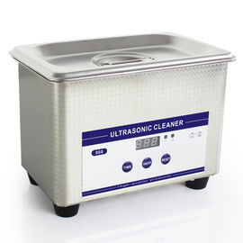 China 0.8L Heated Ultrasonic Eyeglass Cleaner Stainless Steel Dental Ultrasonic Cleaner factory