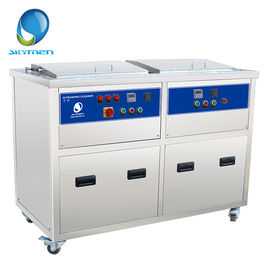 China Double Tank Industrial Ultrasonic Cleaner , Automotive Ultrasonic Cleaner 28khz or 40khz factory