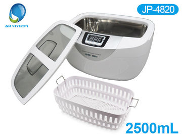China JP -4820 Portable White 2.5 Liter Professional Ultrasonic Jewelry Cleaner CE FCC Cetification factory