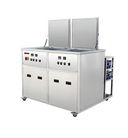China 2 Tanks 135 Liters stainless steel profesional Industrial Ultrasonic Cleaning Equipment For engine parts factory