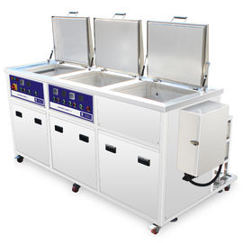 China Three Tanks 77l 3000w Heated Ultrasonic Cleaners Precise Parts Cleaning Rinsing Drying distributor