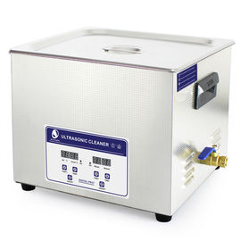 China 15L Heater Adjustable Benchtop Ultrasonic Cleaner , Paint Air brush Ultrasonic Cleaner Bath distributor
