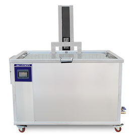 China Custom Made Ultrasonic Parts Cleaner 540L / 140Gal Pneumatic Lift CE Certification distributor