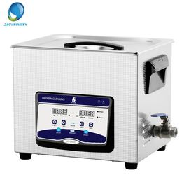 China Adjustable Heater Ultrasonic Cleaning Device 10L 300 X 240 X 150mm Tank Size distributor