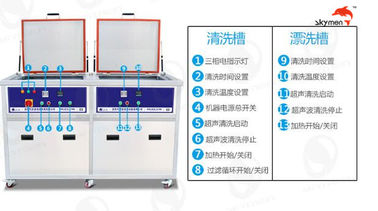 China SUS 304 Material Industrial Ultrasonic Cleaner 28/40KHz For Heavy Grease / Oil 80L factory