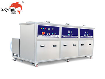 China AC 220V/380V Industrial Ultrasonic Cleaner Washer 135L With Rinsing / Filter / Dryer distributor