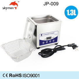 China Jewelry Benchtop Ultrasonic Cleaner 1.3L 60W For Dental Instruments / Fake Teeth factory