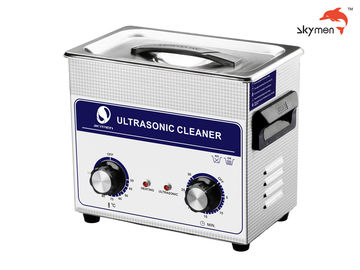 China 120W Ultrasonic Cleaning Equipments , Ultrasonic Parts Washer 3.2L Mechanical Knob factory
