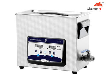 China SUS304 Tank Benchtop Ultrasonic Cleaner 6.5 Liters 40KHz With Degas Semi Wave Function factory