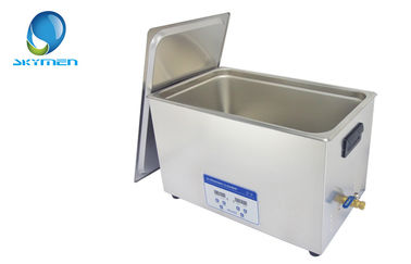 China Large Heated Ultrasonic Bath Cleaner 30L , Ultrasonic Metal Cleaning factory
