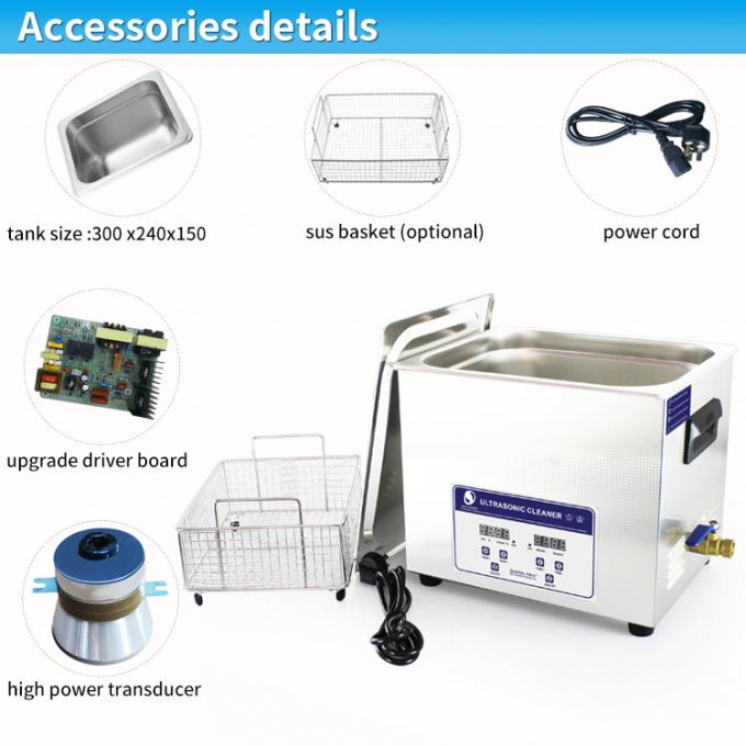 Skymen Benchtop Ultrasonic Cleaner Jewellry ,Optical Lense ,diesel filter Cleaning Machine 10.8l