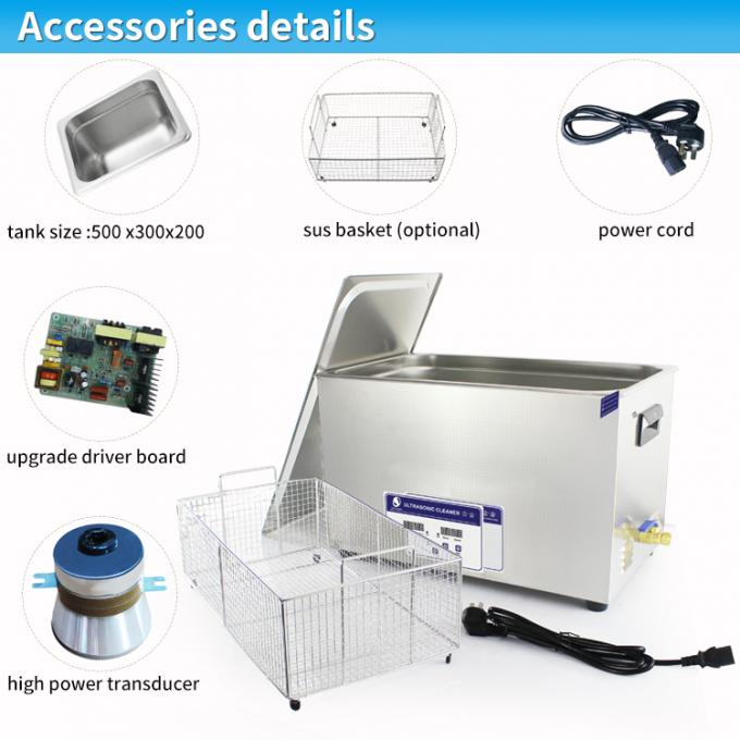 40KHz heater LED display 30L ultrasonic washer machine cleaning fast and effective