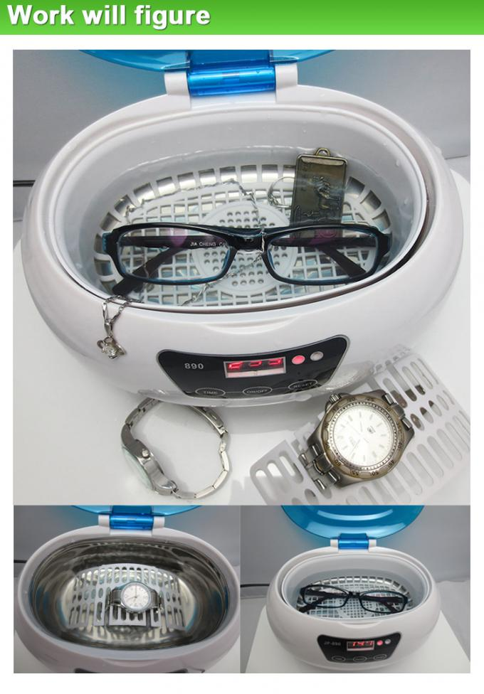 35W Colors Lid Contact Lens Eyeglasses Benchtop Ultrasonic Cleaner / Bath Portable