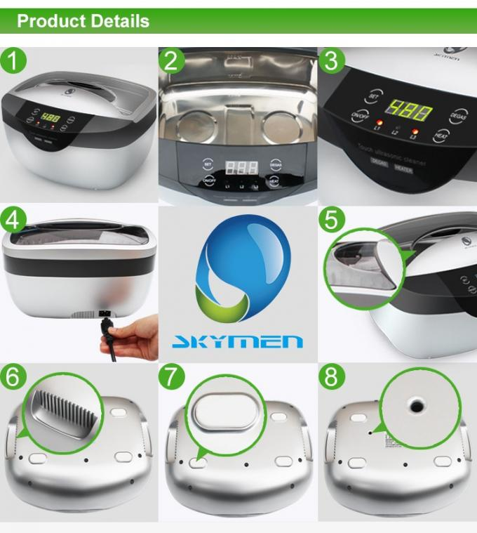Effectively Remove Tarnish Digital Ultrasonic Cleaner , 2.5L Ultrasonic Jewelry Cleaner