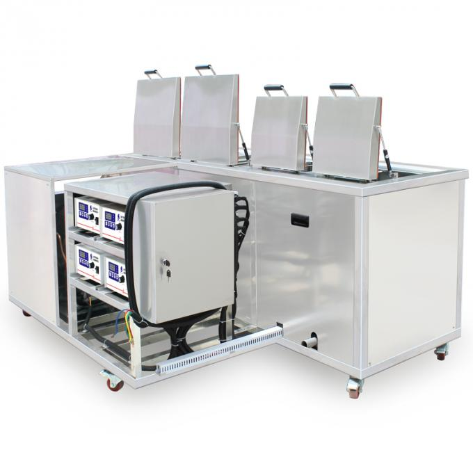 4 tanks Customized PCB Ultrasonic cleaner with cooling system