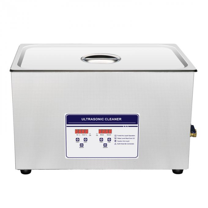 40 KHz Table Top Ultrasonic Cleaner Adjustable Heater For Petrochemicals