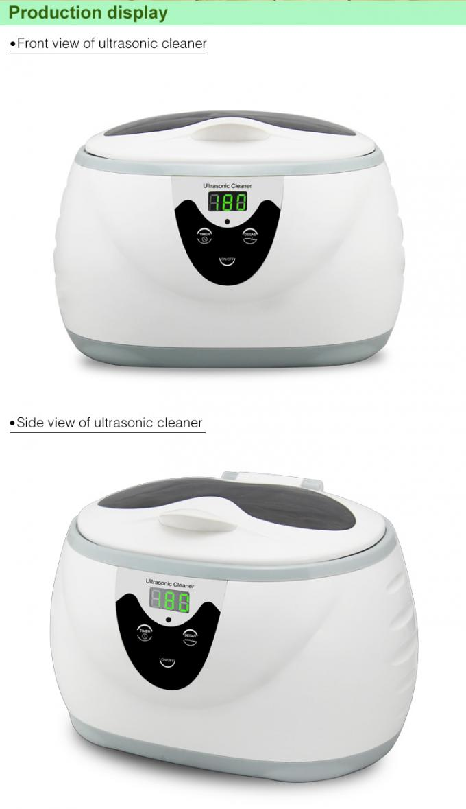 Portable Household Ultrasonic Cleaner 600ml 5 Digital Timing Setting 1 Year Warranty