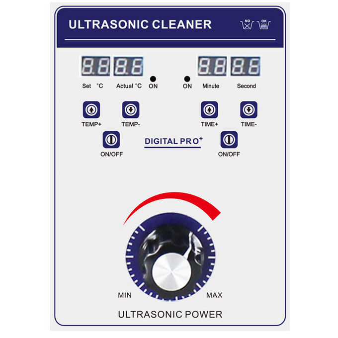 Adjustable Timer Ultrasonic Cleaning Machine 53L Large Volume With Casters / Brakes