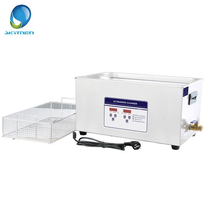 Engine Parts Digital Ultrasonic Cleaner , 30L Ultrasonic Cleaning System 600W Gear Box